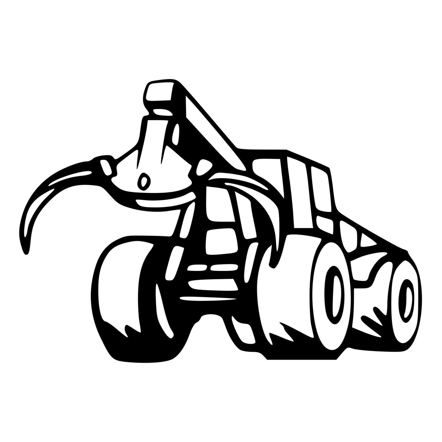 Logging Skidder Die Cut Decal Car Window Wall Bumper Phone