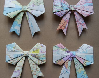 Origami Bow Gift Tag Decoration
