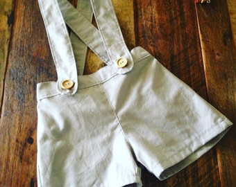 Vintage Suspender shorts