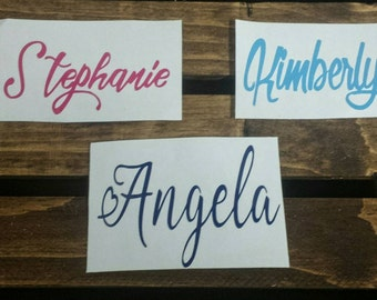 Vinyl Decal Name Decal Vinyl Name Decal Personalized - Custom vinyl decals for glass