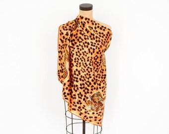 Animal Print Scarf | Leopard Print Rayon Scarf