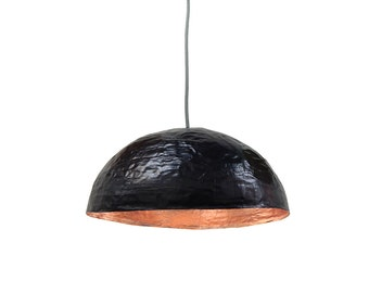 Black and copper hanging light - ecofriendly