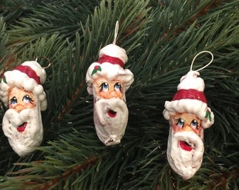 Santa Peanut Decorations