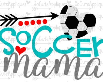 SVG, DXF, EPS Cut file, Soccer mama, Soccer mom svg, soccer cut file socuteappliques, silhouette cut file, cameo file, Soccer sister svg