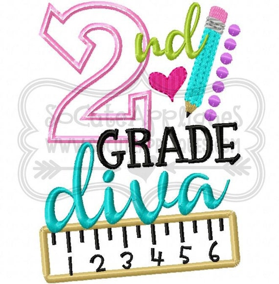 Embroidery design nd grade diva back