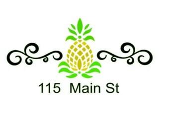Mailbox  Decal, mailbox SVG, Pineapple Mailbox Decal Studio Compatible, Jpeg Files