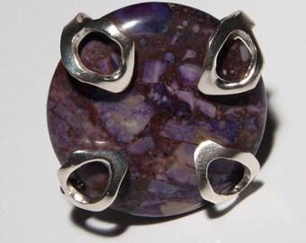 Dionisio Jasper 950 silver ring AN3-3