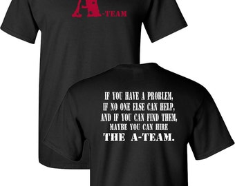 The A-TEAM Funny Logo RETRO Classic 80's Front & Back Men's Tee Shirt 1411