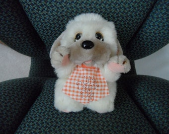 "Vintage Applause 7"" Little Beggar Dog stuffed animal plushie"