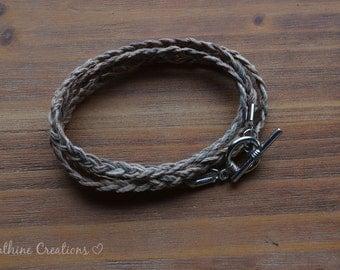 Braided Hemp Wrap Bracelet