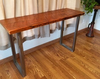 industrial sofa table industrial media stand reclaimed wood console table industrial console table