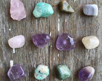 Gemstone magnets - refrigerator magnets - agate magnets - rock magnets