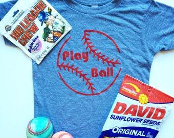 Play Ball baseball tshirt