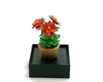 Handmade Lasercut Paper Poinsettia 12th Scale