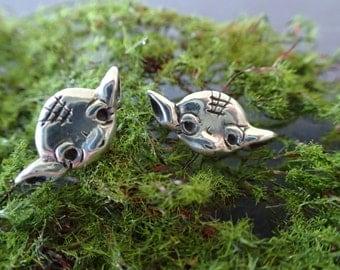 Master Yoda Silver Earrings  (Star Wars Inspired)