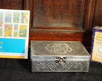 Tarot box Pentacle  with Tarot Bible & Original Rider Waite Tarot Cards - Brilliant gift for a beginner or Advanced