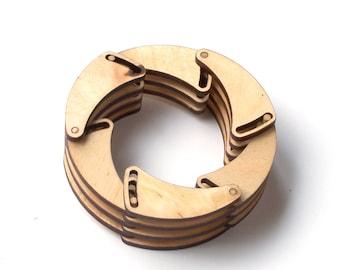 Shutter - laser cut wooden bracelet