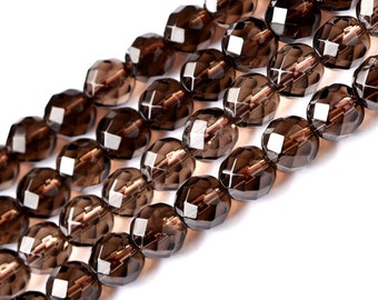 DIY Natural Crystal Carved Smoky Quartz Beads with Strand 35cm string( Bead Size:6-14mm)-WEN18376262962-MAY