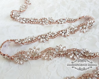 Thin bridal belt, Rose gold belt, rose gold bridal belt, rose gold, rose gold sash, skinny belt, Bridal belt, Wedding belt, sash belt, LILLY