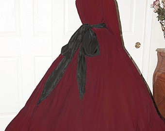 I-D-D Civil War Reenactment Victorian Garibaldi Cranberry 3 Piece Dress S/M