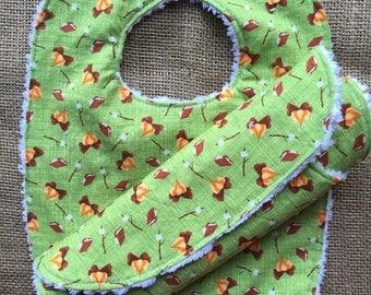 Bib/burp cloth matching set