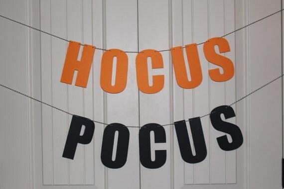 Hocus Pocus Banner, Halloween Banner, Halloween Decoration