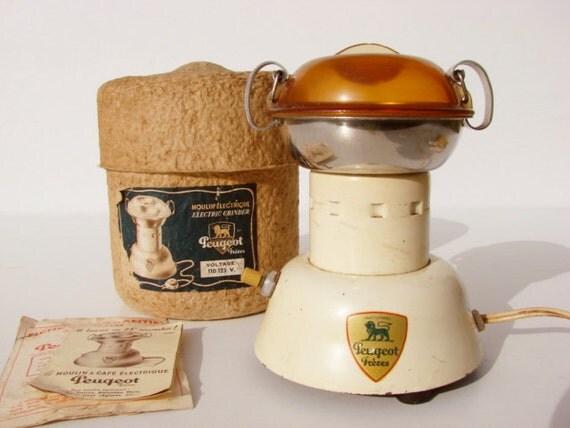 Antique Electric Grinder ~ Vintage french peugeot frères electric coffee grinder