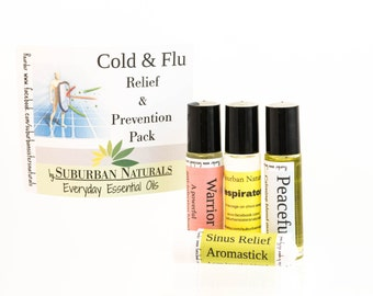 Cold & Flu Essential Oil Relief and Prevention Pack Kit