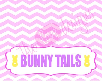 Easter Bunny Tails Printable Treat Bag Topper- *INSTANT DOWNLOAD!*