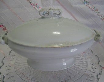 Vintage ironstone covered dish