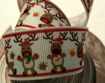 Christmas Ribbon with Reindeer  - Crafting - Scrapbooking