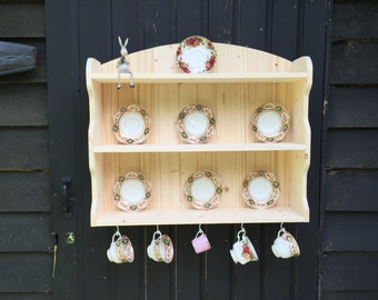 cup and saucer / plate display unit. wall mountable