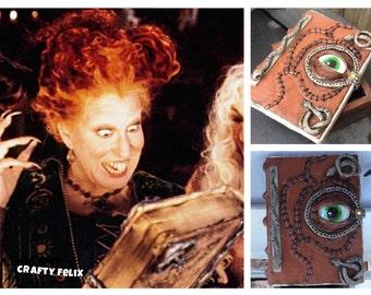 Hocus Pocus spell book necklace  sanderson sister book hocus pocus necklace