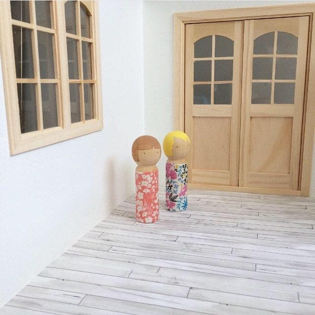1:12 Scale Whitewashed Pine Dollhouse Flooring Digital File