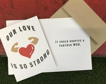 Crossfit Inspired Greeting Card - Love