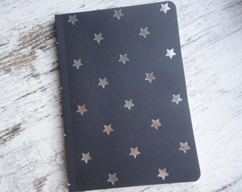 "Notebook ""black/silver star"""