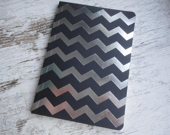 "Notebook ""black/silver chevron"""