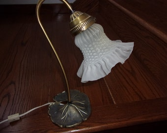 Vintage lamp with flower globe