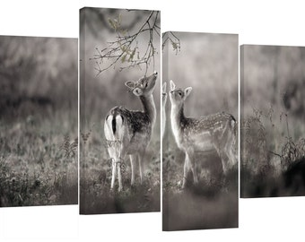 Baby dears /set of 4 canvas prints stretched on wooden bars