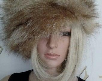 New!Natural,Real Crystal Fox Fur HAT!!! Новая шапка из лиси!