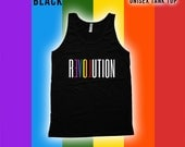 Revolution Pride Tank top - Gay Pride Month Ally t-Shirt, Gay Pride Clothing, pride parade, Mens Womens Shirts, Fitness tank top -CT-498
