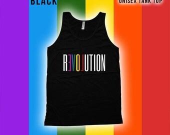 Revolution Pride Tank top - Gay Pride Month Ally t-Shirt, Gay Pride Clothing, pride parade, Mens Womens Shirts, Fitness tank top -CT-498