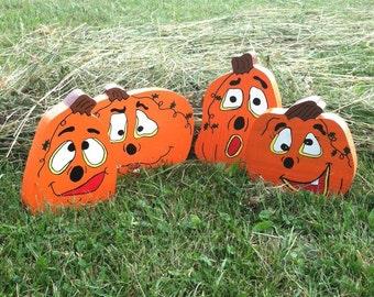 Fall Decor, Pumpkins, Halloween Decor, Wood Crafts, Autumn, Halloween, Fall, Orange, Wood, Pumpkin Decor, Wood Pumpkins, Home Decor