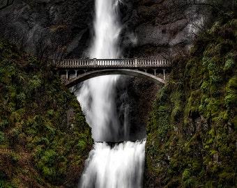 Photo Art - Mountain Photography - Waterfalls - Multnomah Falls