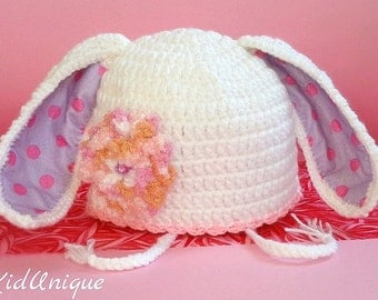 Easter bunny girl outfit hat - Easter bunny beanie - Easter gifts for kids - Easter girl gift - Toddler girl bunny beanie - Baby girl beanie