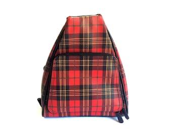 90s Plaid Mini Backpack Purse