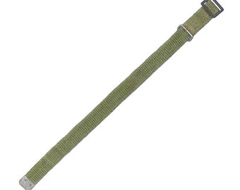 Vintage Army Surplus Tie Down Strap Pull Tight With Metal Buckle Approx. 37cm Long Unissued NOS