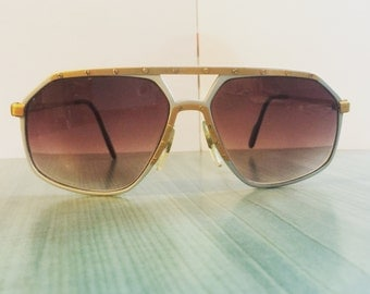 Alpina M6 24k Gold Plated Silver Sunglasses Germany