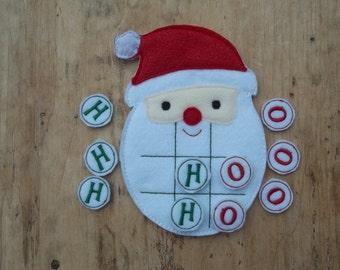 Santa's Beard :Christmas Tic Tac Toe Game  Christmas Game . Party Favor. Gift.