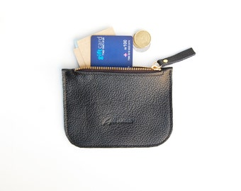 Coin purse, credit card holder,  black coin purse, credit card wallet, wallets, credit card pouch, metro card holder